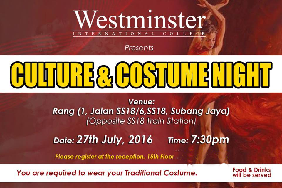 Cultural & Costume Night by Westminster International Colllege